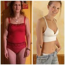 eine Frau im Vorher/ Nachher Vergleich